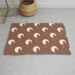 Cat and Moon Pattern Rug