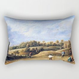 The Archery Contest - David Teniers the Younger Rectangular Pillow