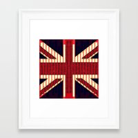 british flag Framed Art Prints featuring BRITISH FLAG by shannon's art space