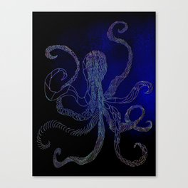 split octo personalities Canvas Print