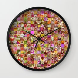 Orchid Montage Wall Clock
