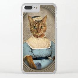 "Jane ""Paw""sten Clear iPhone Case"