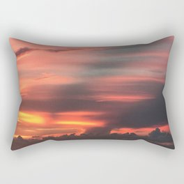 Red Sky Sunset Rectangular Pillow