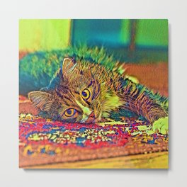 AnimalColor_Cat_ 009_by_JAMColors Metal Print