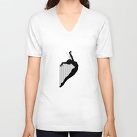 sia V-neck T-shirts featuring Harp by Kristijan D.