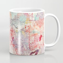 Fort Worth map Texas painting Coffee Mug