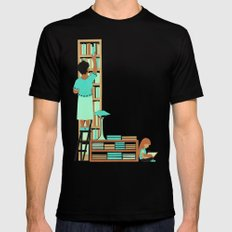 L as Libraire (Bookseller) Mens Fitted Tee Black MEDIUM