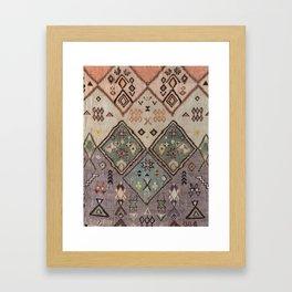 Traditional Vintage Moroccan Rug Framed Art Print
