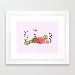Humble Knit Frog Framed Art Print