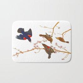 Red winged Starling, or Marsh Blackbird Bath Mat