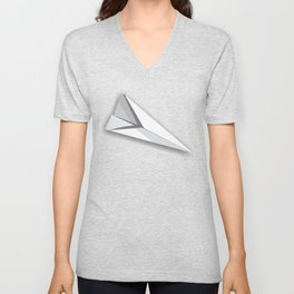 Paper Airplane Unisex V-Neck