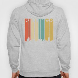 Retro 1970's Style Billings Montana Skyline Hoody