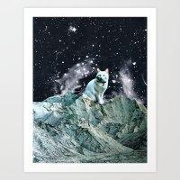wizard Art Prints featuring WIZARD by Beth Hoeckel