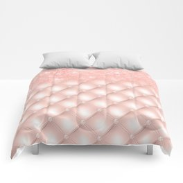 Luxury Rosegold Glitter Pearl Comforters