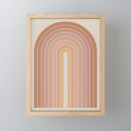 Gradient Arch - Natural Tones Framed Mini Art Print