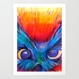 Crazy Owl  Art Print