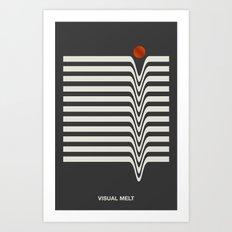 Visual Melt Art Print