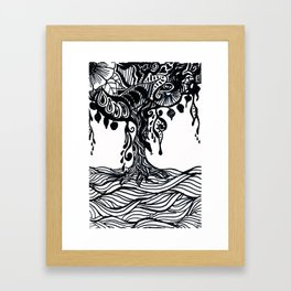 Henna Design 9 (Tree of Life) Framed Art Print
