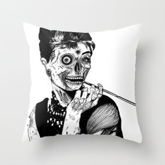 Zombie at Tiffany's Throw Pillow