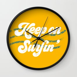 Keep on surfin' Wall Clock