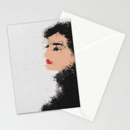 Audrey Hepburn Abstract Painting Stationery Cards