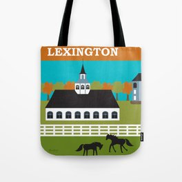 Lexington, Kentucky - Skyline Illustration by Loose Petals Tote Bag