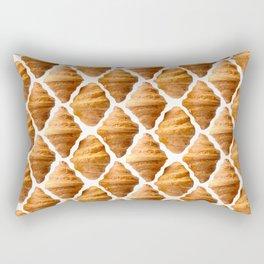 Croissants pattern Rectangular Pillow
