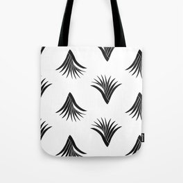 Pandanus Leaf Pattern - Black Tote Bag