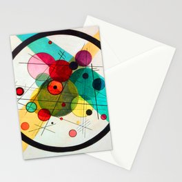 Kandinsky Circles in a Circle Stationery Cards