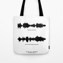 Lab No. 4 - Movie Frozen Music Waveform Print Poster Tote Bag