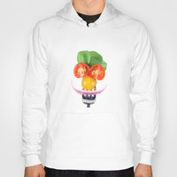 vegetables Hoodies featuring Happy Vegetables by Chantal Seigneurgens