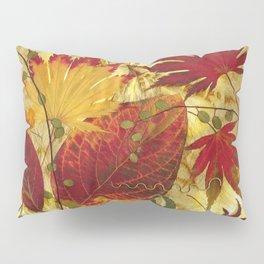 Fall Pressed Leaves Pillow Sham
