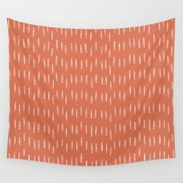 Boho, Raindrops Pattern in Terracotta Wall Tapestry