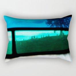 Stained Glass Graveyard Rectangular Pillow