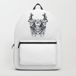 Japan samurai skull Backpack