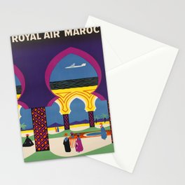 affiche Royal Air Maroc voyage poster Stationery Cards