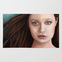 Summer Glau - The girl with the beautiful face Rug
