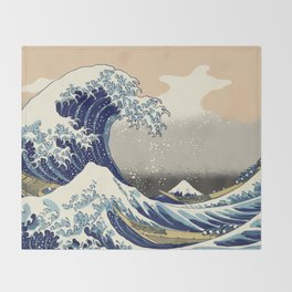 The Great Wave Throw Blanket
