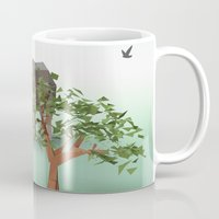 africa Mugs featuring Africa by CharismArt