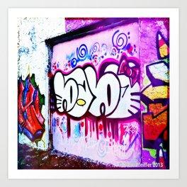 Kitty Kitty Graffiti West Philly Art Print