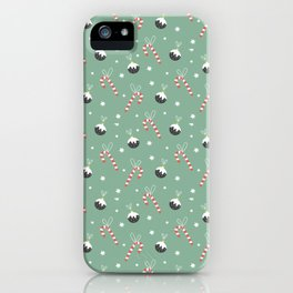 Christmas Candy Cane And Ornament Decor iPhone Case