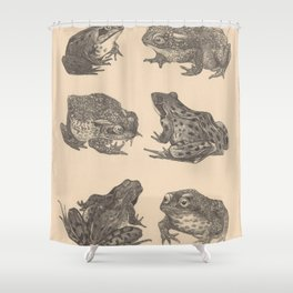 Naturalist Frogs Shower Curtain