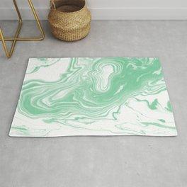Shinzi - spilled ink japanese marble paper ocean watercolor swirl marbling marbled pattern Rug