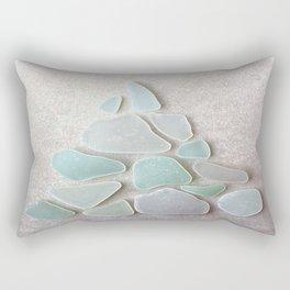 Sea Foam Sea Glass Christmas Tree #Christmas #seaglass Rectangular Pillow