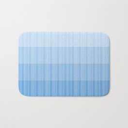 Four Shades of Light Blue with Stripes Bath Mat