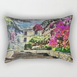 Vintage street in Calabria Amantea Rectangular Pillow
