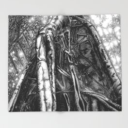 Fig Tree Throw Blanket