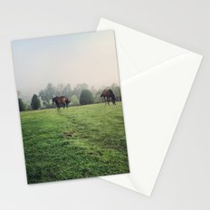Horses in the Field Stationery Cards