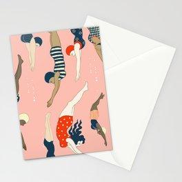 Vintage diving ladies Stationery Cards