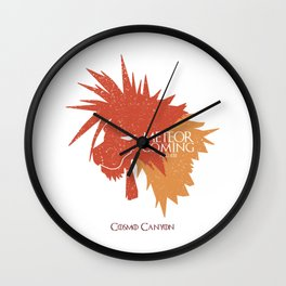 Red XIII METEOR IS COMING Wall Clock